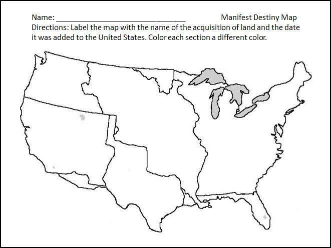 blank map of us manifest destiny. Black Bedroom Furniture Sets. Home Design Ideas