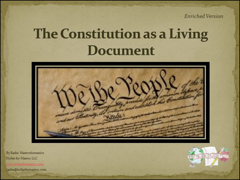 us constitution living document The united states has demonstrated an unprecedented determination to preserve and protect its written constitution, thereby providing the american experiment in democracy with the oldest written constitution still in force the constitution of the united states is a carefully balanced document.